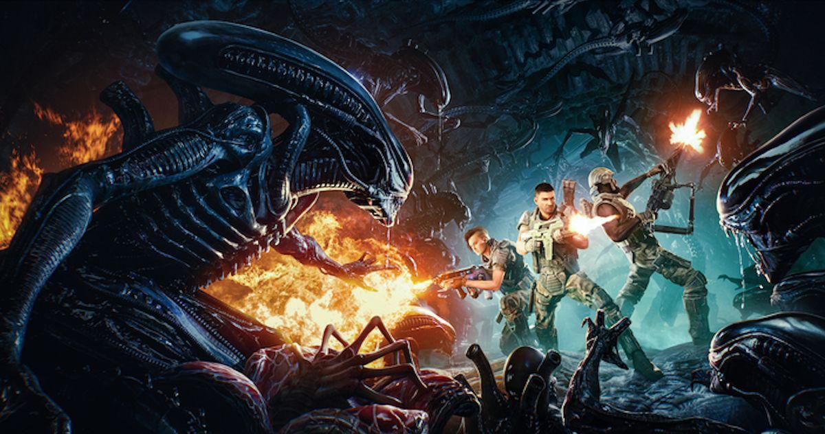 В трейлере к видеоигре Aliens: Fireteam рассказывается о ксеноморфах против.  Колониальные морские пехотинцы стреляют в них