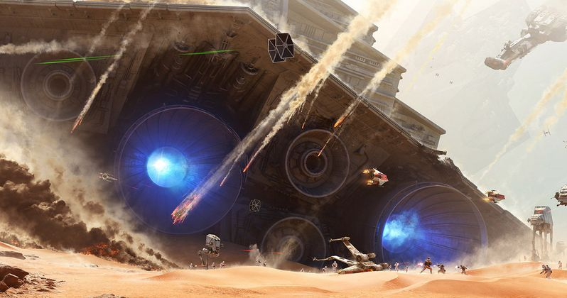 Star Wars Battlefront Art Teases the Battle of Jakku