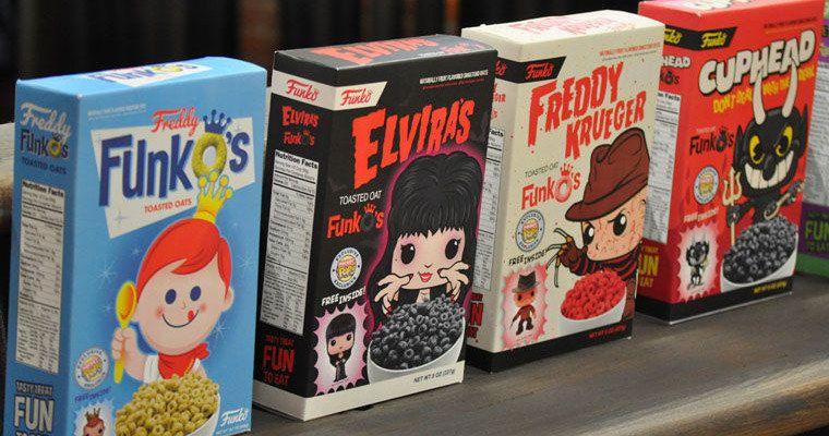 Freddy, Cuphead, Beetlejuice & Elvira Get New Funko Pop Cereal