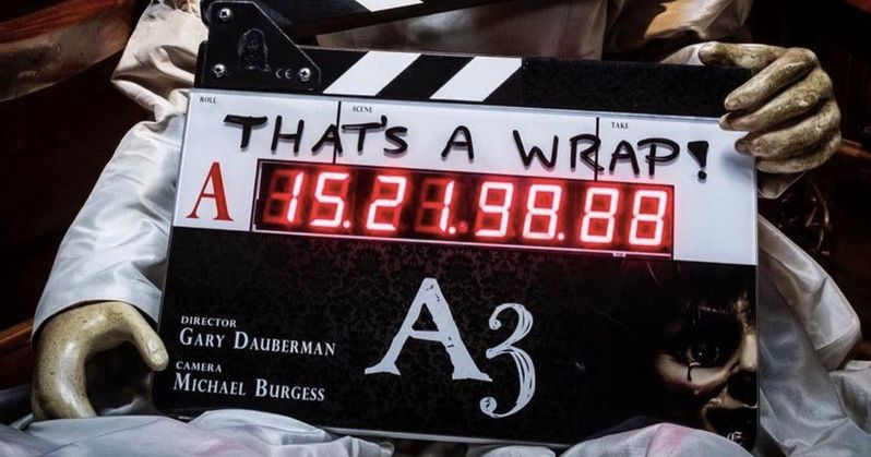 Annabelle 3 Wraps Production with a Final Set Photo