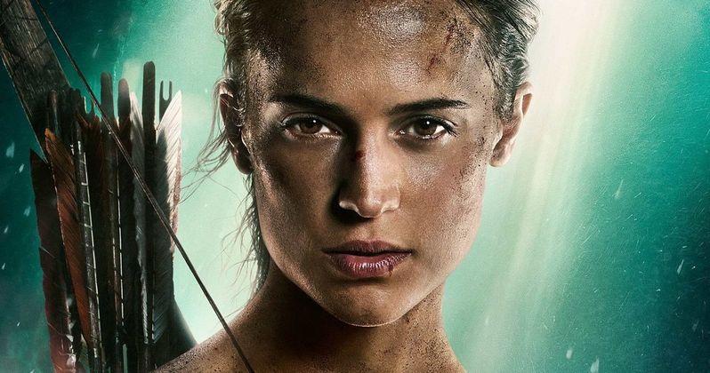 Tomb Raider Poster Unleashed with Alicia Vikander as Lara Croft