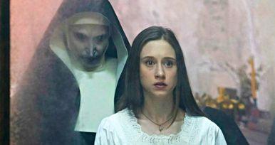 The Nun Terrorizes Taissa Farmiga in New Conjuring Spin-Off Image