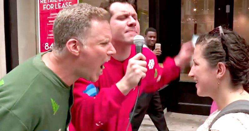 Watch Will Ferrell Scream at Strangers About Christmas Movies