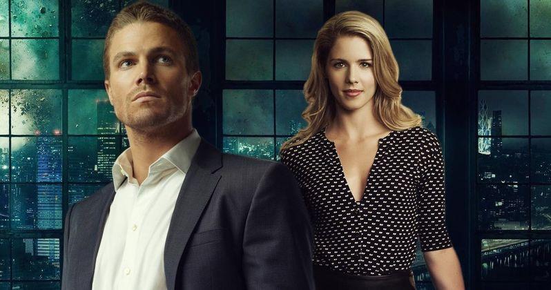 Arrow Star Stephen Amell Says Goodbye to Exiting Co-Star Emily Bett Rickards