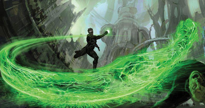 green lantern corps flash movie art debuts at comic con