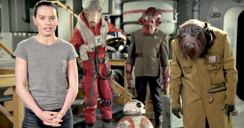 Watch a Star Wars Day Greeting from Daisy Ridley & Some Alien Friends