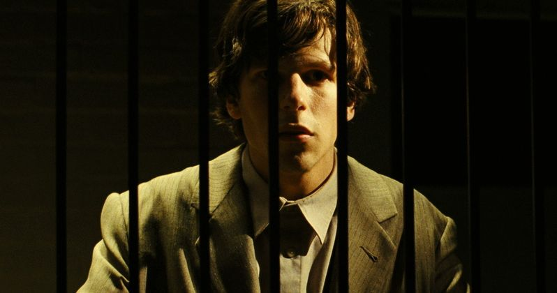 Jesse Eisenberg Can't Get Past Security in The Double Clip