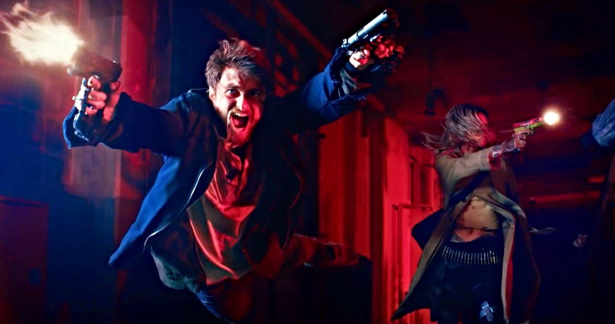 Guns Akimbo Trailer Goes Wild with Daniel Radcliffe & Samara Weaving