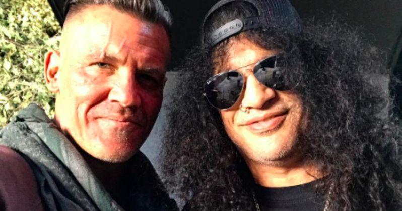 Slash Visits Josh Brolin on Deadpool 2 Set, Is He in the Movie?