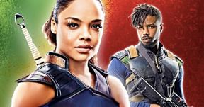 Tessa Thompson Knows Who'd Win in a Fight Between Valkyrie & Killmonger