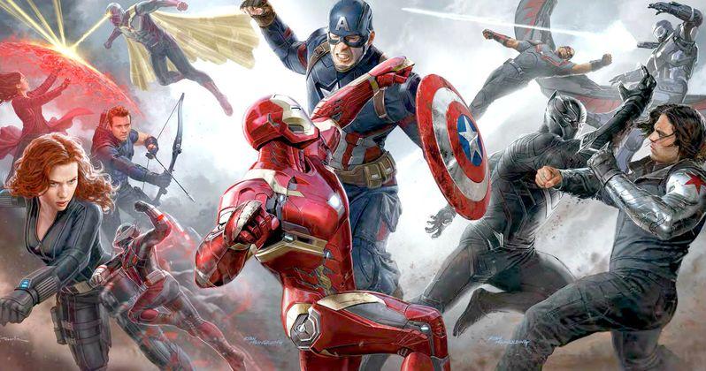 captain america civil war art shows epic superhero battle