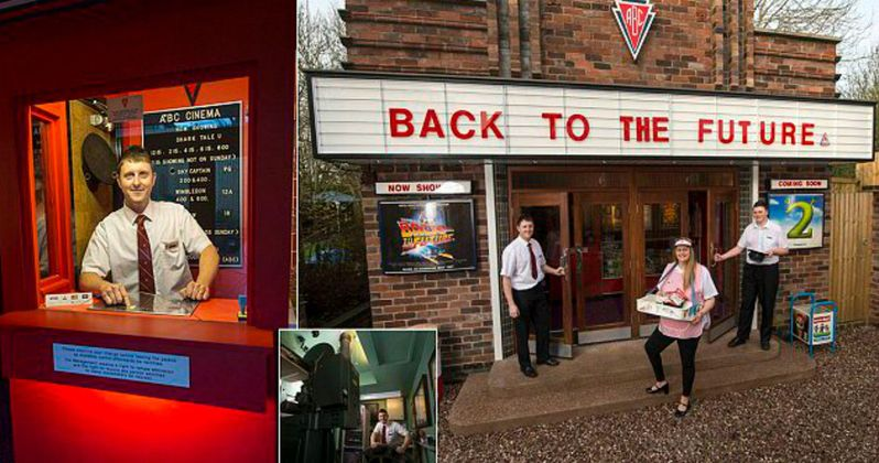 Movie Fanatic Builds a Retro Theater in His Backyard