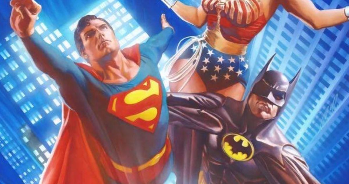 New Justice League Art Unites Michael Keaton's Batman and Christopher Reeve's Superman