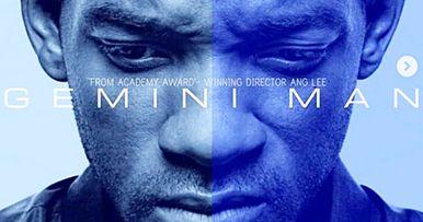 Gemini Man Poster Splits Will Smith in Half