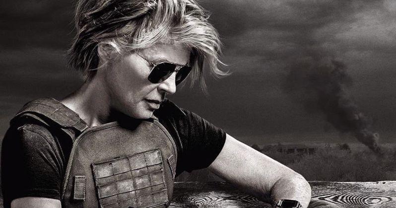 Sarah Connor Is Ready for War in Stunning Terminator: Dark Fate B&W Image