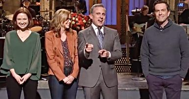 The Office Cast Reunites on SNL to Beg Steve Carell for a Reboot