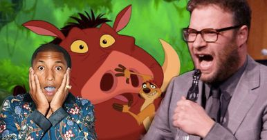 Pharrell Williams Was Bummed by Seth Rogen's Singing in The Lion King