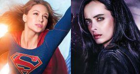 Supergirl & Jessica Jones Stars Squash Marvel & DC Rivalry