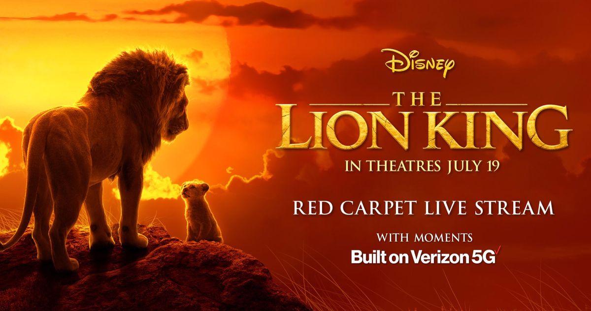 watch the lion king world premiere red carpet livestream