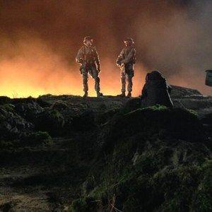 Godzilla 'Night Shoot' Behind-the-Scenes Photo
