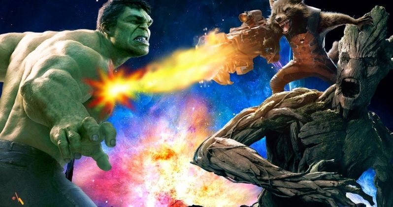 Infinity War Teams Up Hulk & Rocket Raccoon, Is Groot Jealous?