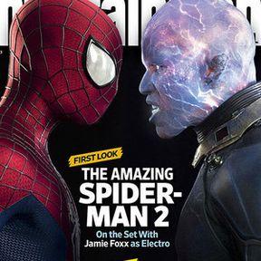 Fully Charged Electro Revealed on The Amazing Spider-Man 2 EW Magazine Cover