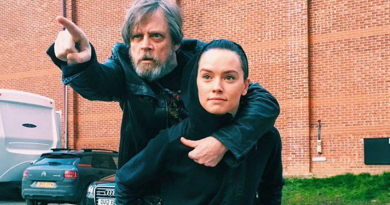Mark Hamill Teases Daisy Ridley's Jedi Training in Star Wars 8 Set Photo