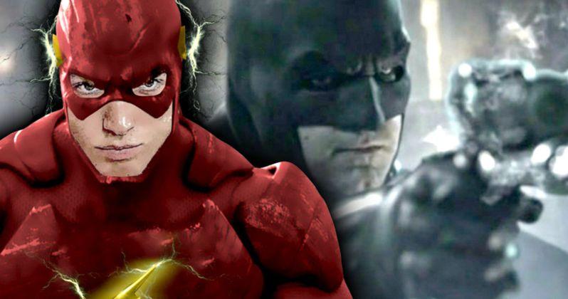 Batman Meets the Flash in Justice League Scene Description