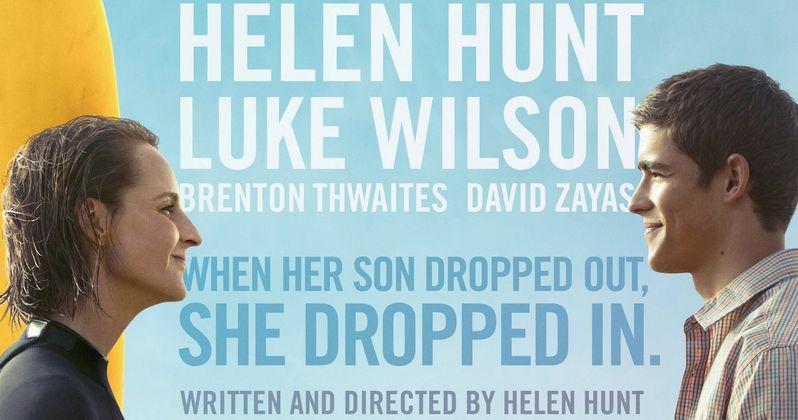 Ride Poster: Helen Hunt & Brenton Thwaites Hit the Surf   EXCLUSIVE