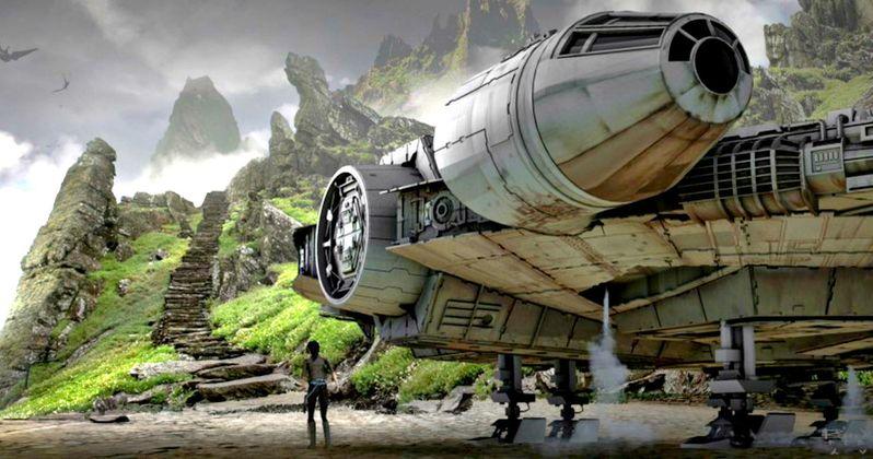 Star Wars 8 Set Photos Show Millennium Falcon at the Jedi Temple