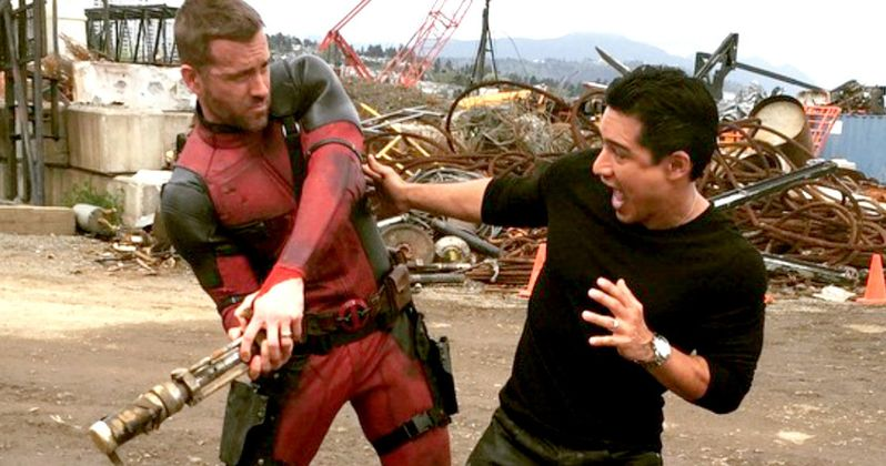 Deadpool Tries to Kill Mario Lopez in Latest Set Photo