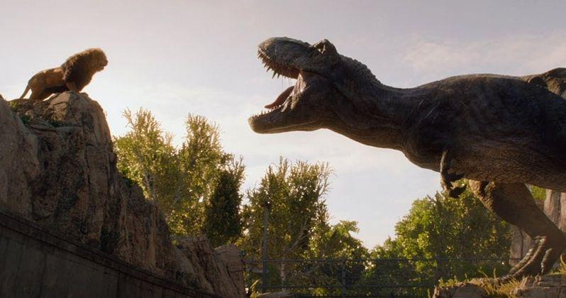 Rexy Meets a Lion in Crazy New Jurassic World 2 TV Spot