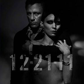 The Girl with the Dragon Tattoo London Set Photos with Hooded Rooney Mara