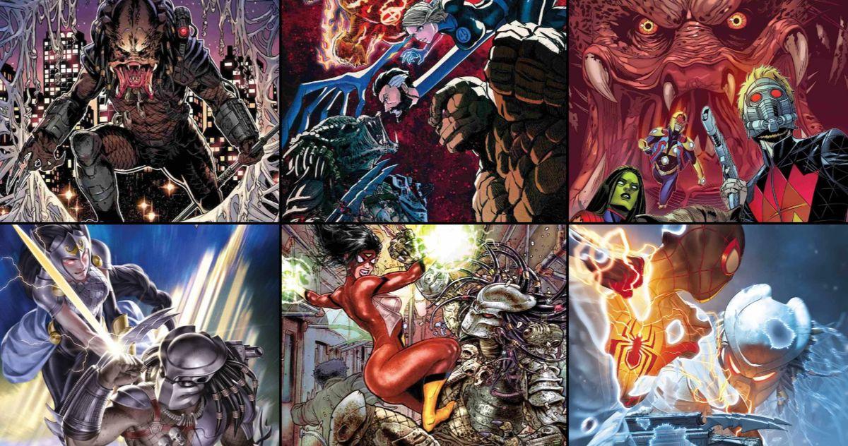 Хищник охотится на культовых супергероев Marvel в вариантах обложек комиксов