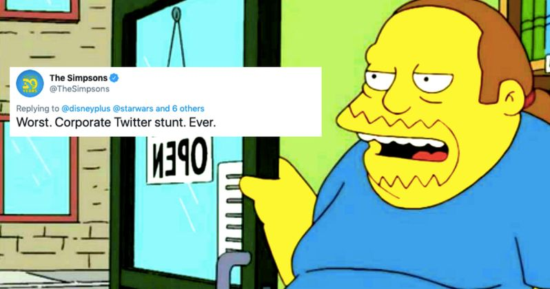The Simpsons Gets Last Laugh After Shading Disney Over Corporate Twitter Stunt