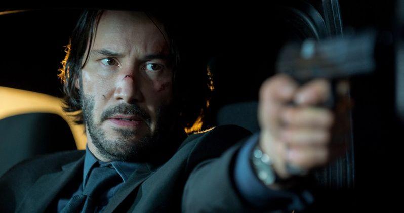 John Wick 2 First Look at Keanu Reeves On Set