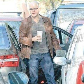 The Zero Theorem Set Photos with Matt Damon