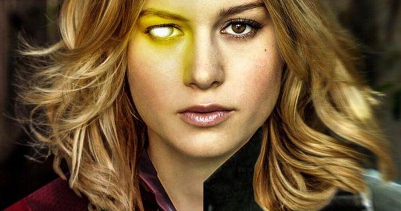 Brie Larson Is Killing It as Captain Marvel Hails Clark Gregg