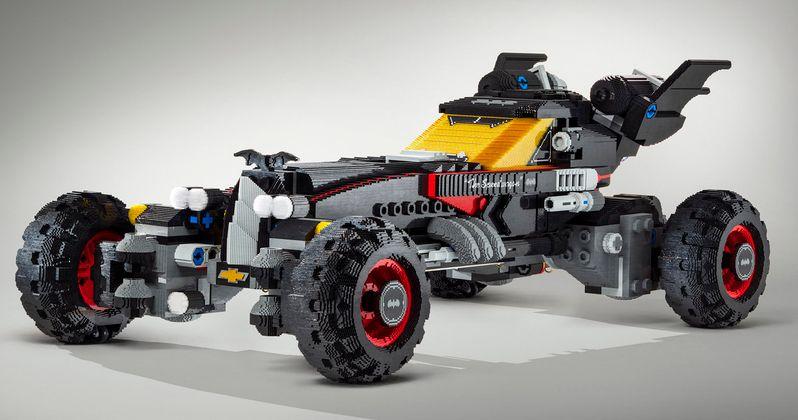 Chevrolet Unveils Life-Sized Lego Batmobile from Lego Batman Movie