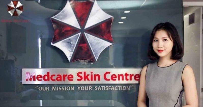 Resident Evil Logo Mistakenly Used by Vietnam Skin Care Center