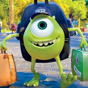 Monsters University Photos with Mike and Sulley
