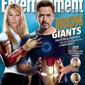 Iron Man 3 EW Magazine Cover with Tony Stark and Pepper Potts