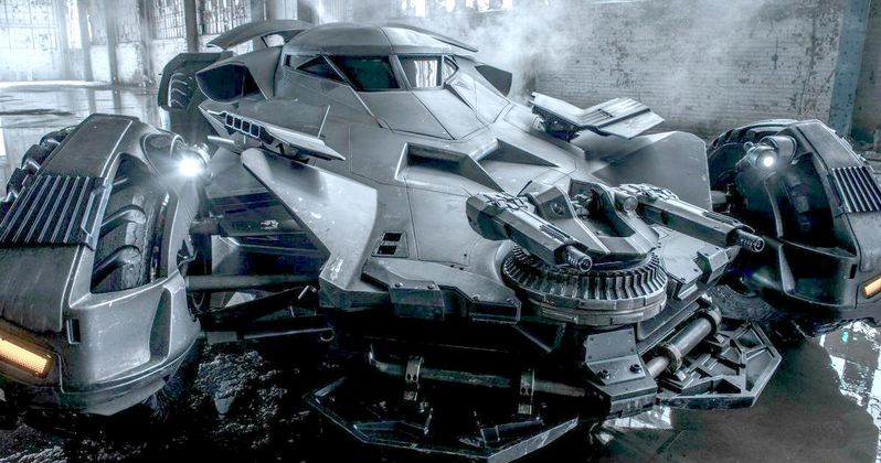 Batman v Superman Batmobile Photo Teases Toys & Merchandise Launch