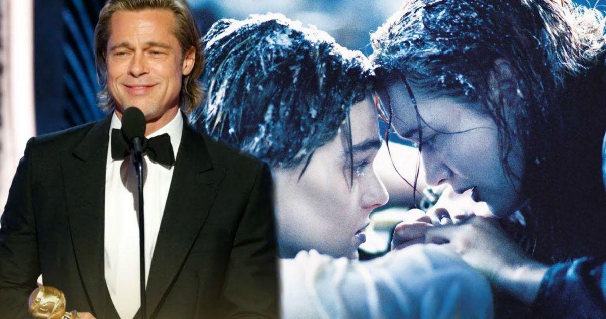 Brad Pitt Uses Golden Globes Speech to Troll Leonardo DiCaprio Over Titanic Debate