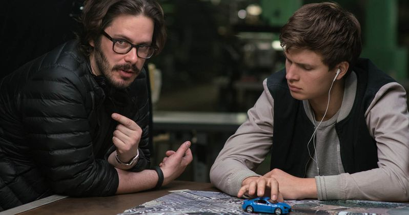 Edgar Wright Talks Baby Driver, Loud Music & Car Chases | EXCLUSIVE