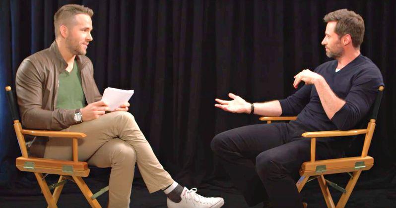 Watch Ryan Reynolds Crash Hugh Jackman's Eddie the Eagle Junket