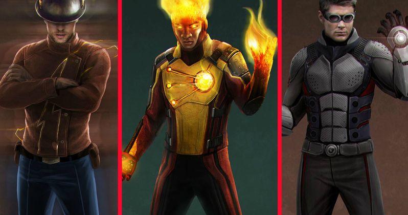 The Flash Concept Art Shows Jay Garrick, Firestorm & Geomancer