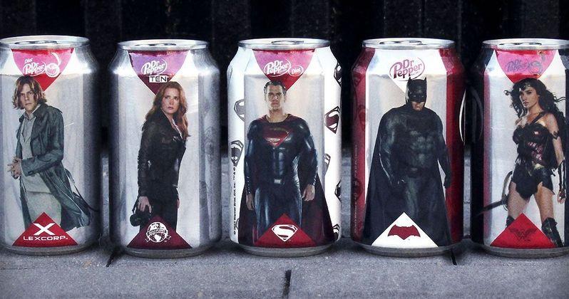 Batman v Superman Dr. Pepper Cans Showcase the Heroes & Villains