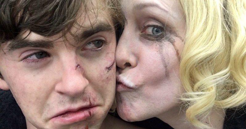 Bates Motel Wraps Shooting, Vera Farmiga Kisses Freddie Highmore Goodbye