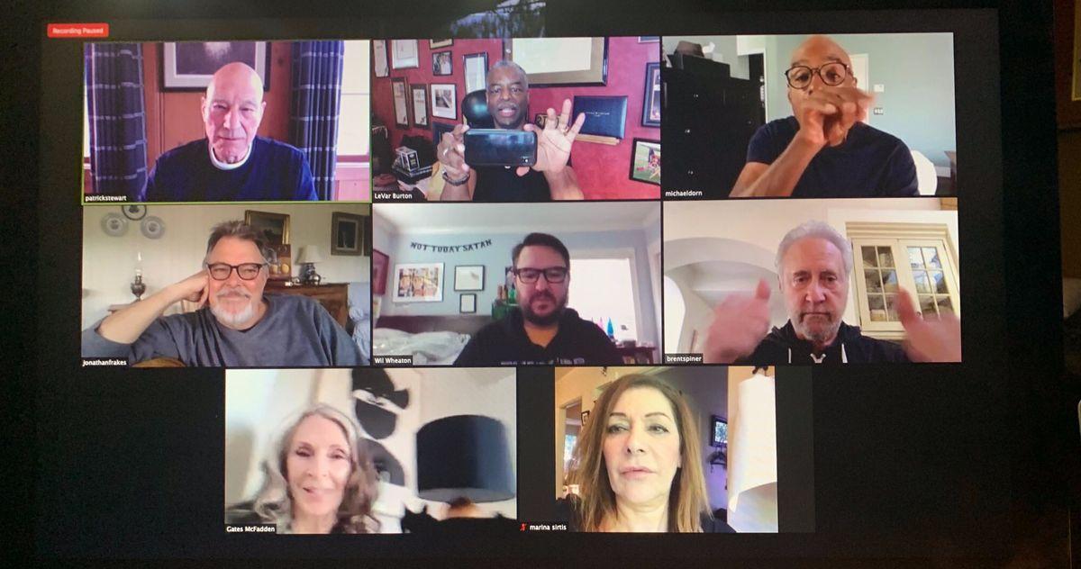 Star Trek: The Next Generation Cast Reunites Online for Marina Sirtis' Birthday